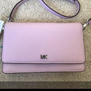 Michael kors pale lilac wallet crossbody